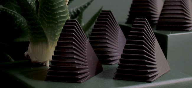 5 food concepts imagined through chocolate