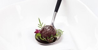 A bite of beet root, by Rasmus Kofoed from Geranium restaurant