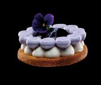 Vanilla violet cheesecake by William Werner