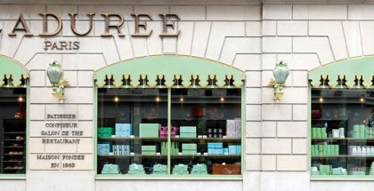 Facade of Ladurée Paris