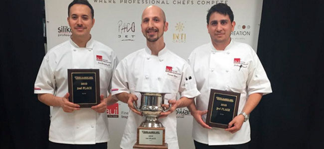 The winners of the I AUI Pastry Cup at 2016