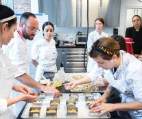 greg mindel and students in course viennoiserie Valrhona brooklyn