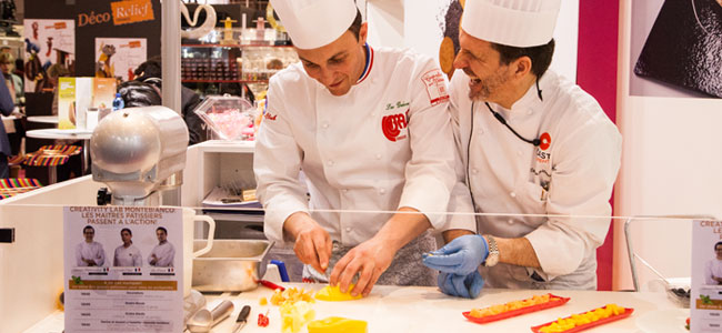 A showcase of international chefs at Europain's Intersuc Lab