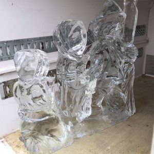 Bustamante's ice sculpture
