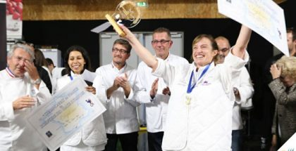 Verónica Bustamante wins France's Ice Sculpture Champion