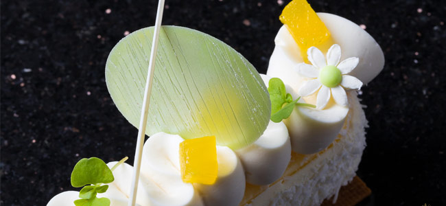 Yogurt, coconut and pineapple cheesecake by Antonio Bachour