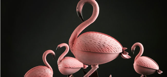 Easter is dyed flamingo pink by Ernst Knam
