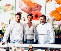 Claire and Marc Ducobu with Pierre Hermé