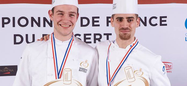 Gaël Reigner and François Josse, champions of France du Dessert 2018