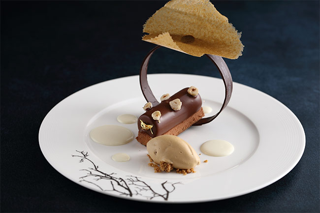 Le Nougat With Mousse Coffee Ice Cream And Lime