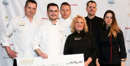 Guillaume Lopvet witj jury Savour Patissier of the Year