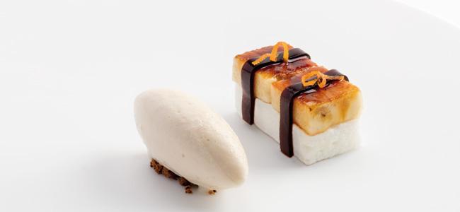 Banana musubi, Enigma Restaurant by Albert Adrià
