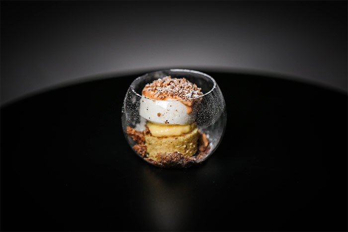 Pierre Gagnaire, véritable artiste culinaire moderne ? Conticini-verrine