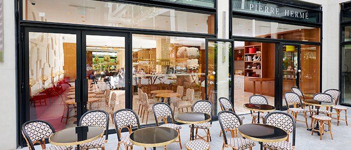 A typical Parisian café, Pierre Hermé's latest establishment