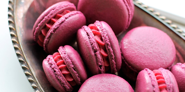 """Cassis"" Black Currant macaron by Tanya Emerick"