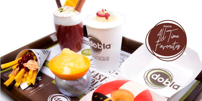 Real-looking fruit and Fast food with chocolate, Dobla's new products