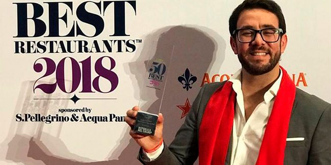 The Spanish chef Jesus Escalera wins Latin America's Best Pastry Chef Award 2018