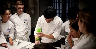During class at Hofmann pastry school