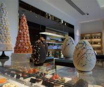 Eggs and macarons by Mandarin Oriental Hotel