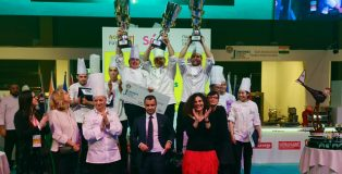 World Junior Pastry Championship podium