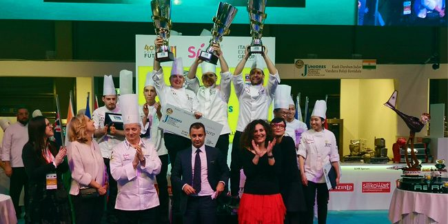 Italy sweeps away in the Pastry Junior with a new team led by Davide Malizia