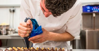 William Curley preparing bonbons