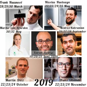 Calendar 2019 Horeca Culinary School