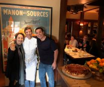 Carrie Lewis and Santiago Corral at Chez Panisse