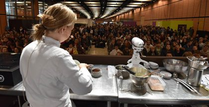 Demo pastry at Salon du Chocolat
