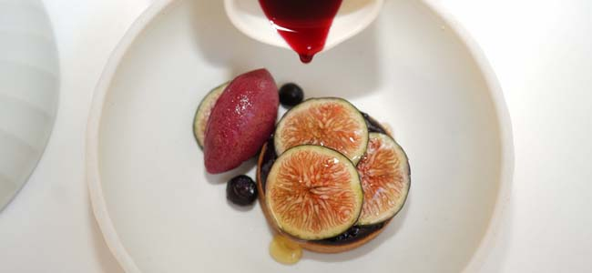 Jungsik's Fig tart by Eunji Lee