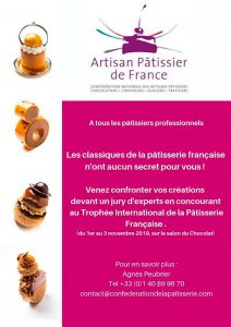 Poster of the Trophyée International de la Pâtisserie Française
