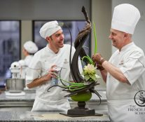 Jacquy Pfeiffer working on a chocolate sculpture