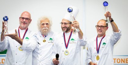 Gabriel Pallaison and the winners of the first Panettone World Cup