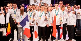 All the winners of the 1st Trophée International of the Pâtisserie Française