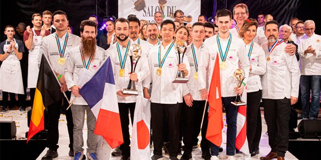 Dorian Zonca wins the 1st Trophée International of the Pâtisserie Française