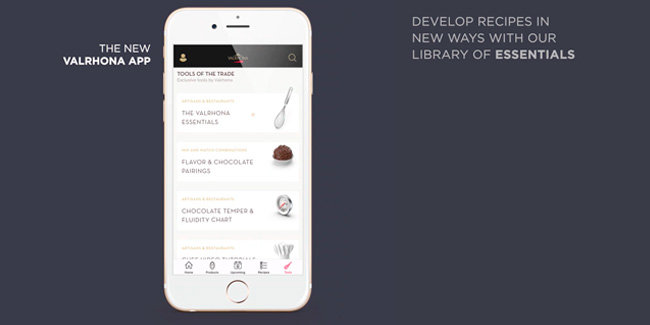 Valrhona launches a pastry app that includes its Interactive Essentials