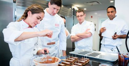 A class at L'École Valrhona Brooklyn