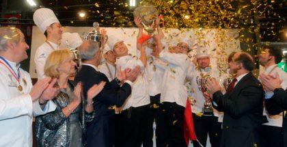 China on the podium after winnig the Coupe du Monde de la Boulangerie
