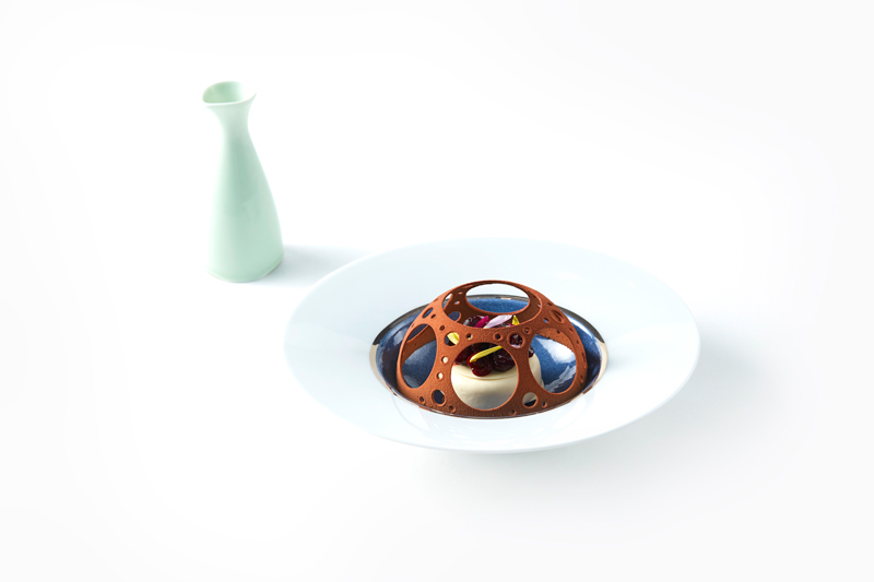 Jacopo Bruni's platted dessert
