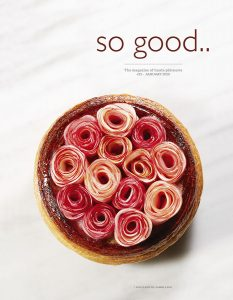 Apple rose pie from LESS became the cover of so good #23