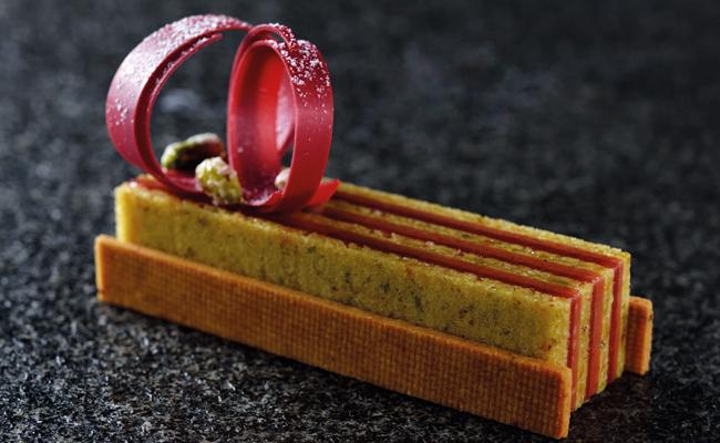 Strawberry Kaffir Lime Pistachio Opera