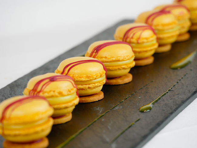 Yellow macarons by Michael Perrichon