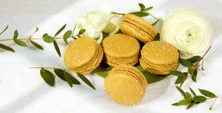 Vegan caramel macaron by Laduree