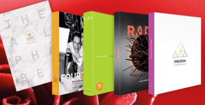 Alphabet, Radix, Chocolate, Prisma and Four in One books for chefs