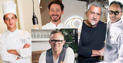 Paco Torreblanca, Cédric Grolet, Pierluigi Portinari, João Henriques, and Tomasz Deker