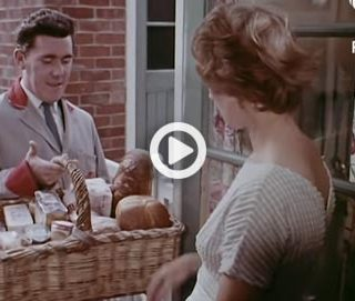 A bread factory in the UK in the 60s