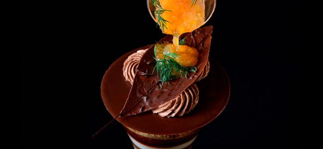 Future Museum with chocolate, celery, and grapefruit, by Akihiro Kakimoto