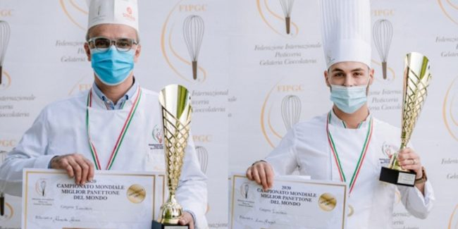 Double tie and Italian stamp in the FIPGC panettone competition