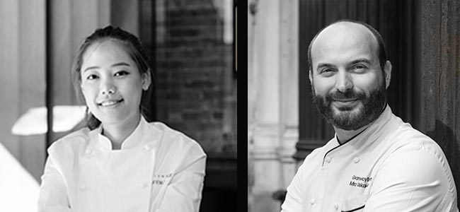 Eunji Lee and Miro Uskokovic join L'École Valrhona Brooklyn online classes