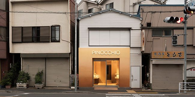 Pinocchio, a different Japanese bakery the color of bread crust